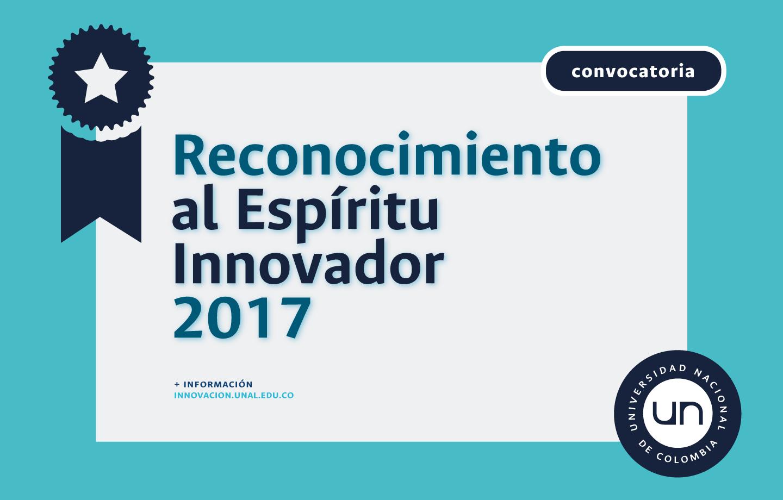 Reconocimiento espíritu Innovador 2017