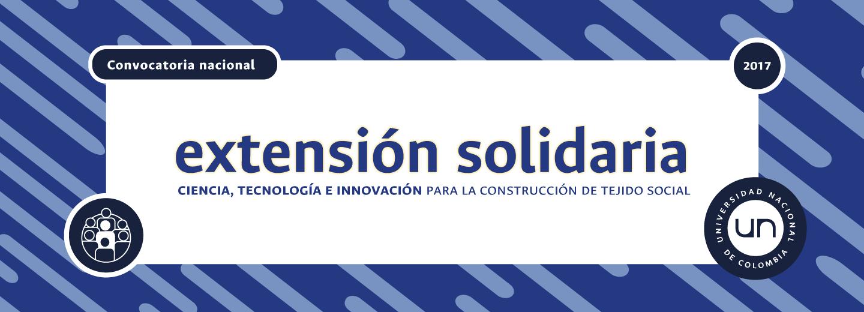 Lista preliminar de propuestas que cumplen con requisitos - Convocatoria Nacional de Extensión Solidaria 2017: «Ciencia, Tecnología e Innovación para la construcción de tejido social»